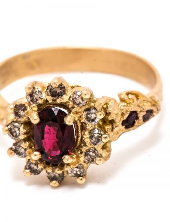 Queenie Ring - Red Spinel