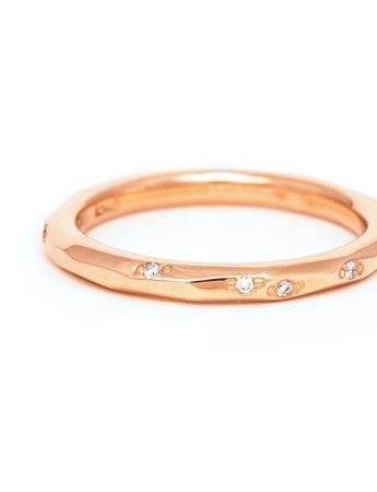 Faceted Diamond Band - Rose Gold