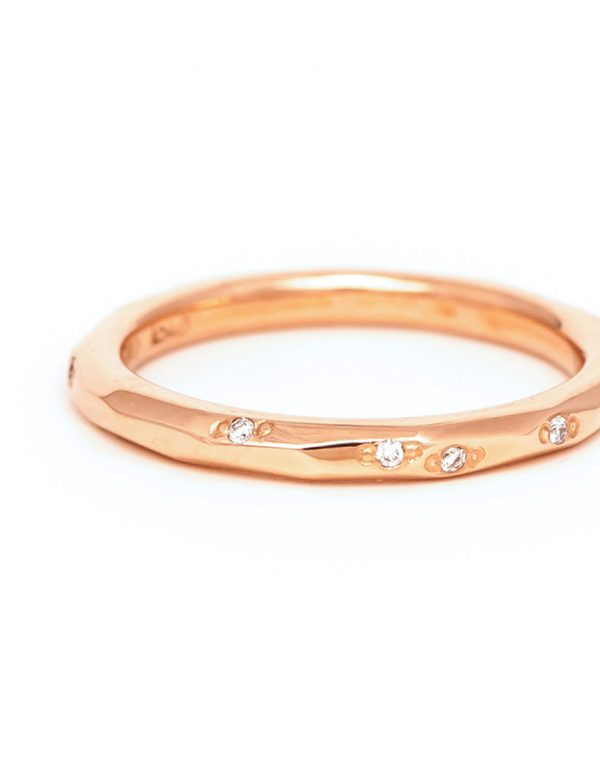 Faceted Diamond Band – Rose Gold