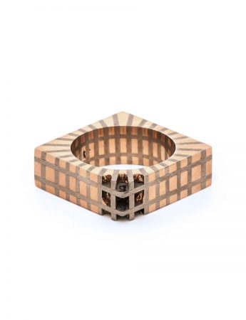 Flesh & Bone Square Ring - Rose Gold