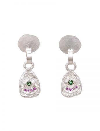 Large Alexandra Earrings – Sapphire & Tourmaline