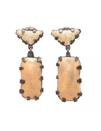 Pom Pom Park Earrings - Beige