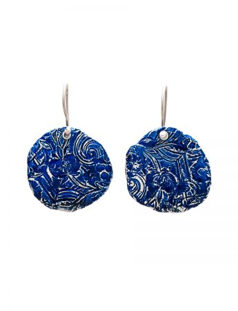 Fragment Pomegranate Earrings - Blue