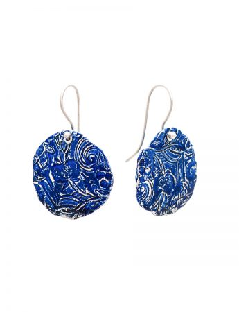Fragment Round Earrings - Blue