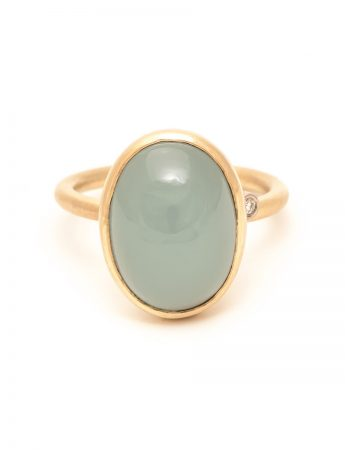 Water Ring - Cabochon Aquamarine