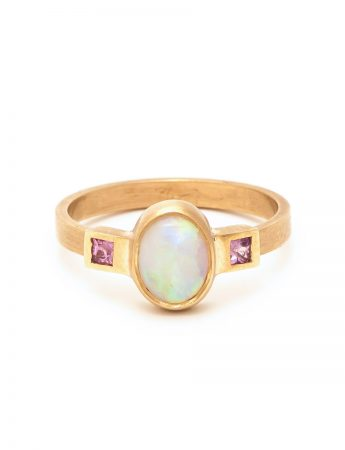 Crystal Opal Ring - Pink Sapphire