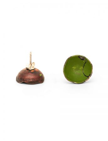 Cup Stud Earrings – Green