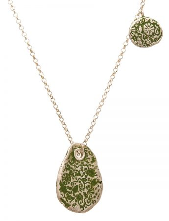 Fragment Pomegranate Necklace - Green
