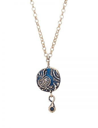 Fragment Pomegranate Necklace - Sapphire