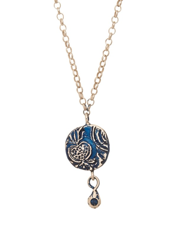 Fragment Pomegranate Necklace – Sapphire