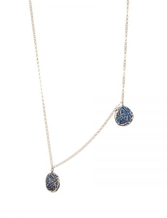 Fragment Two Drop Necklace - Blue