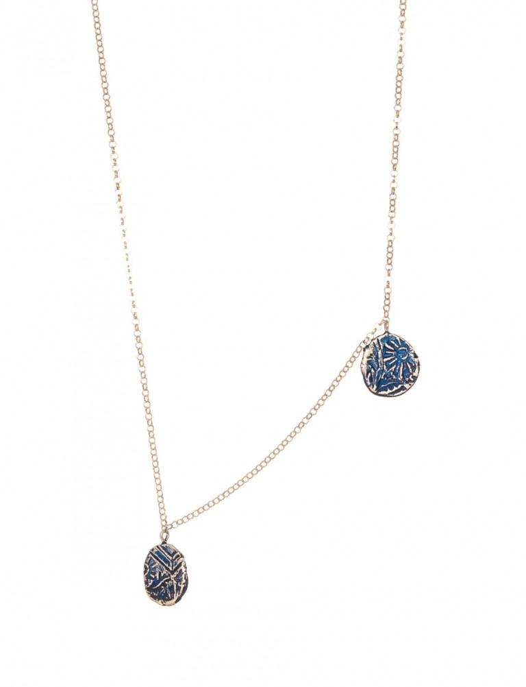Fragment Two Drop Necklace – Blue