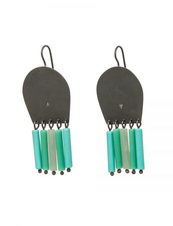 Brush Earrings – Green