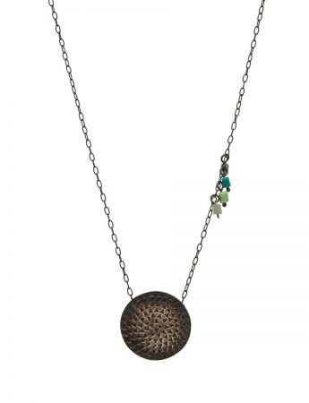 Sundisk Pendant Necklace - Green