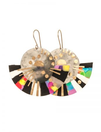 Large Boat Earrings - Multi