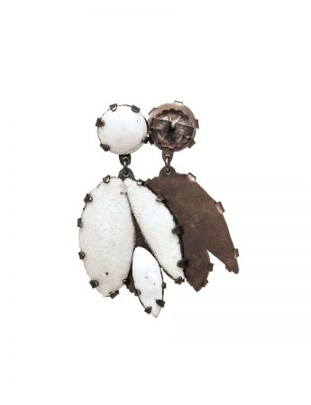Ghost Gum Earrings - Large White