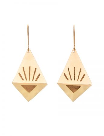 Medium Diamond Earrings - Cream