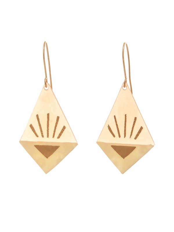 Medium Diamond Earrings – Cream