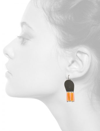 Brush Earrings – Orange
