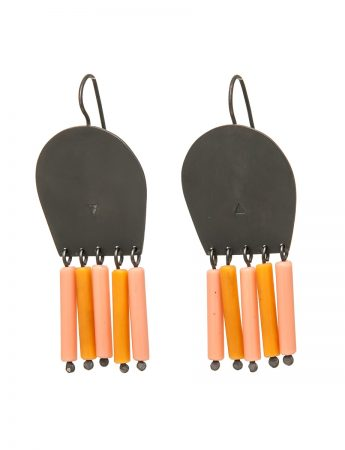 Brush Earrings - Orange