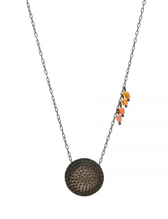 Sundisk Pendant Necklace - Orange