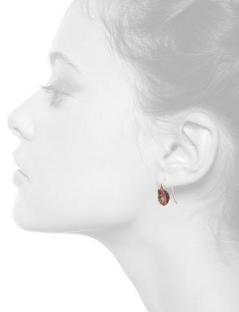 Single Dome Shibuichi Hook Earrings – Pink