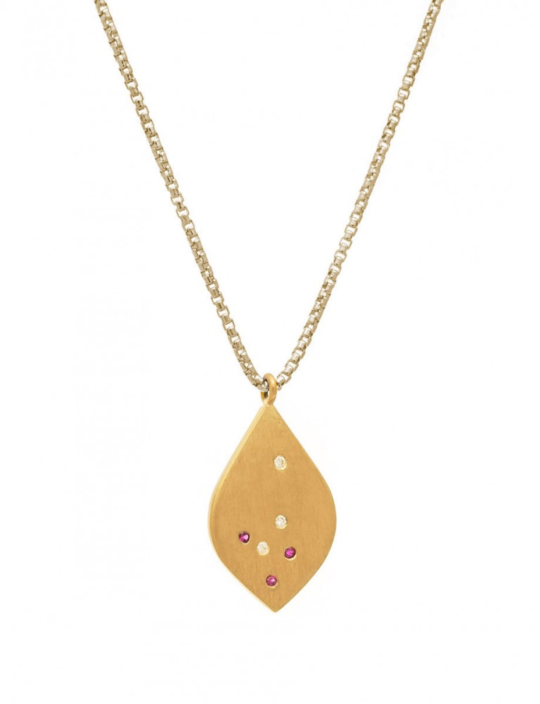 Scatter Necklace – Rubies & Diamonds