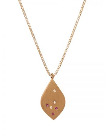 Scatter Necklace - Rubies & Diamonds