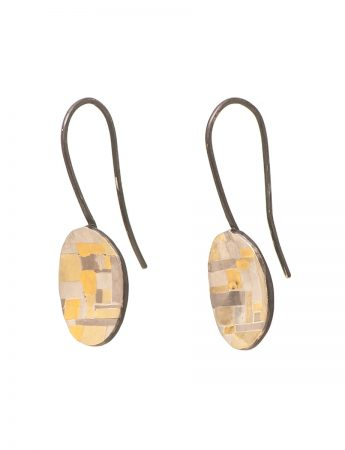 Shared Terrain Hook Earrings - Oval