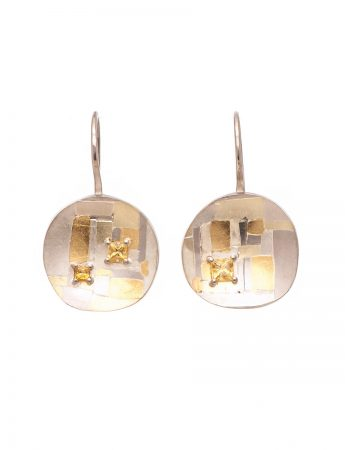 Shared Terrain Hook Earrings - Sapphire