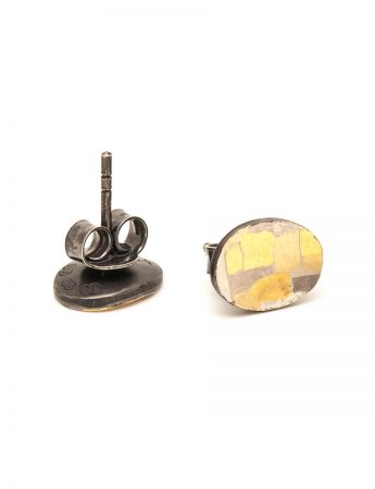 Shared Terrain Stud Earrings - Oval