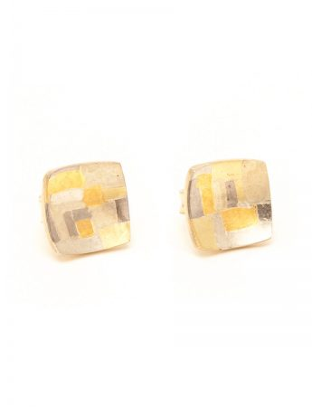 Shared Terrain Stud Earrings – Square