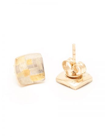 Shared Terrain Stud Earrings - Square