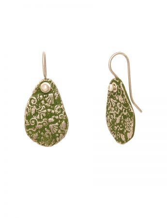 Stamens Earrings - Green
