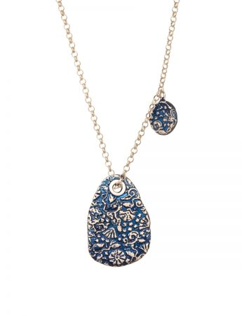 Stamens Pendant Necklace - Blue