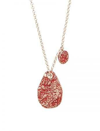 Stamens Pendant Necklace – Red