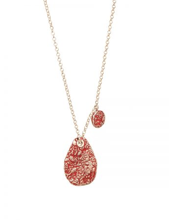 Stamens Pendant Necklace - Red