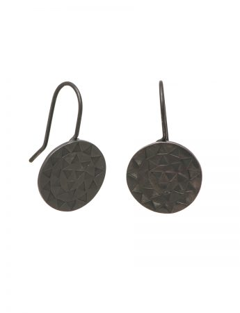 Sundisk Earrings - Oxidised