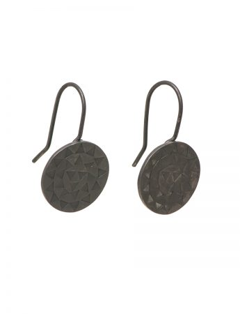 Sundisk Earrings – Oxidised