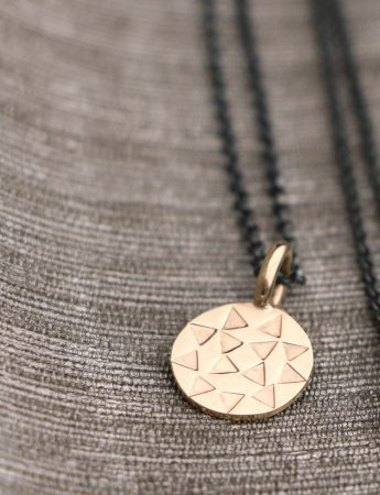 Mini Sundisk Pendant Necklace - Gold