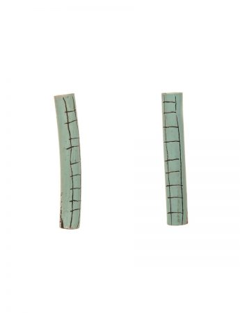 Tube Earrings - Blue