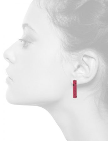 Tube Earrings – Pink