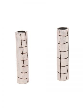 Tube Earrings - White