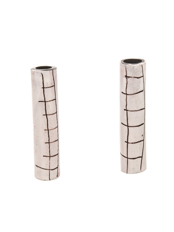 Tube Earrings – White