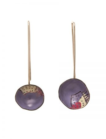 Turtle Earrings - Purple