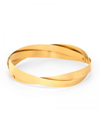 Twist Bangle - Yellow Gold