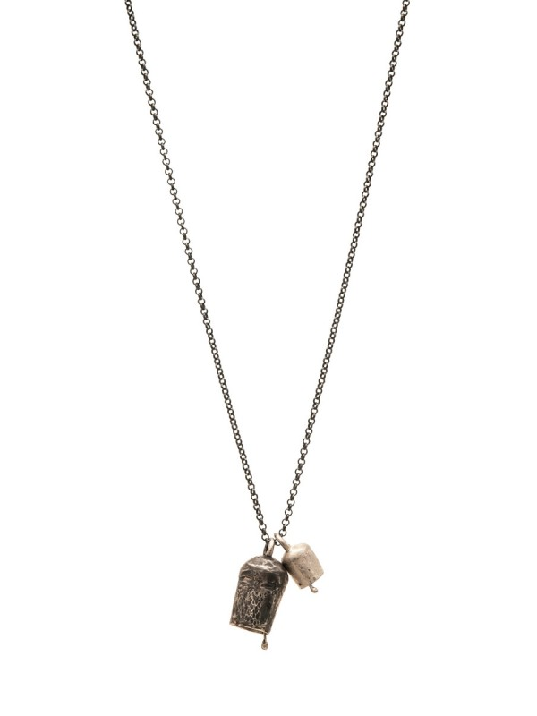Two Large Bells Necklace – Silver & Oxidised