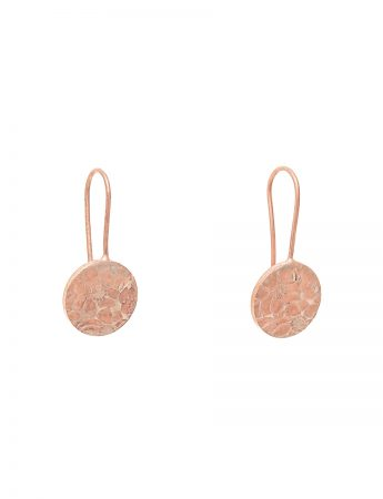 Flower Hook Earrings - Rose Gold Plate