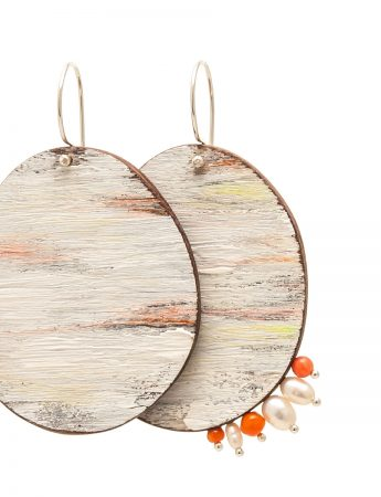 Dust Earrings - Pearl & Coral