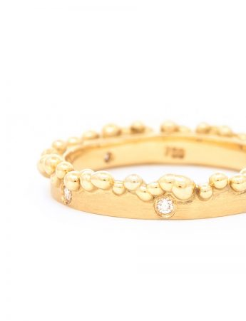 Bubble Ring - Gold & Diamonds